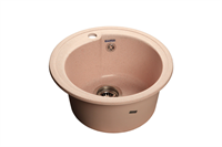 Мойка для кухни GranFest RONDO R-450  (R-450  светло-розовый) 443x443