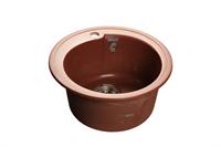 Мойка для кухни GranFest RONDO R-450  (R-450  красный марс) 443x443