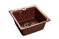 Мойка для кухни GranFest PRACTIK P-420  (P-420  красный марс) 417x417