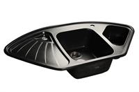 Мойка для кухни GranFest CORNER C-1040 E  (C-1040 E  черный) 1039x560
