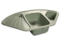 Мойка для кухни GranFest CORNER C-1040 E  (C-1040 E  салатовый) 1039x560