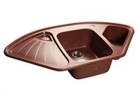 Мойка для кухни GranFest CORNER C-1040 E  (C-1040 E  красный марс) 1039x560