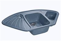 Мойка для кухни GranFest CORNER C-1040 E  (C-1040 E  графит) 1039x560