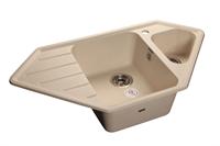 Мойка для кухни GranFest CORNER C-950 E  (C-950 E  белый) 485x930