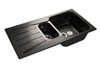 Мойка для кухни GranFest STANDART S-940 KL  (S-940 KL  черный) 492x927