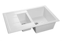 Мойка для кухни GranFest QUADRO Q-775 KL  (Q-775 KL  иней) 495x765