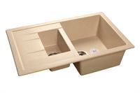 Мойка для кухни GranFest QUADRO Q-775 KL  (Q-775 KL  бежевый) 495x765