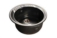 Мойка для кухни GranFest RONDO R-520  (R-520  черный) 520x520
