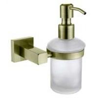 Дозатор для жидкого мыла настенный (стекло) бронза (латунь) (KH-4310)