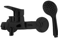 Смеситель для ванны Bravat ECO BLACK короткий излив, черный (F6111147BM-B)