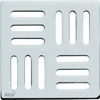 Дизайн решетка 102 x 102 x 5 латунь – хром AlcaPlast MPV001