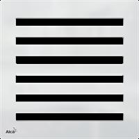 Дизайн решетка 102 x 102 x 5 латунь – хром AlcaPlast MPV003