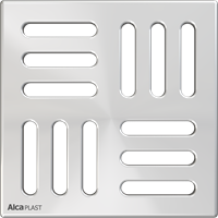 Решетка 102 x 102 нержавеющая сталь AlcaPlast MPV004