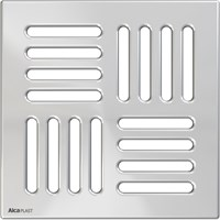 Решетка 143 x 143 нержавеющая сталь AlcaPlast MPV005