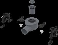 Низкий cифон AlcaPlast APZ-S9 DN50 и комплект регулируемых ног