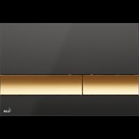 Кнопка смыва AlcaPlast M1728-5 черная/золотая