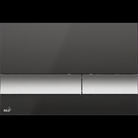 Кнопка смыва AlcaPlast M1728-2 черная/хром-матовая