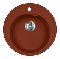 Мойка кухонная AquaGranitEx M-08 (334) красный марс
