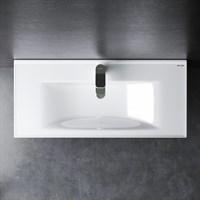 Раковина мебельная Am.Pm X-Joy, керамическая, 100 см, встроенная, цвет: белый, глянец (M85AWCC1002WG)