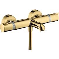 Смеситель для ванны Hansgrohe Ecostat Comfort 13114990 с термостатом Полированное золото