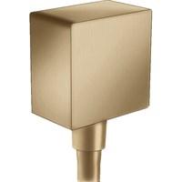 Шланговое подсоединение Hansgrohe Fixfit Square 26455140 с клапаном обратного тока Полированная бронза